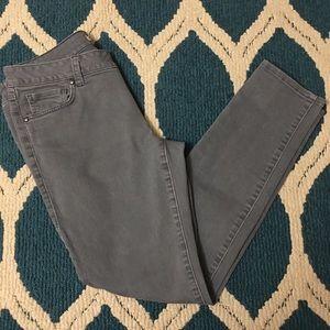 CABI 326 Gray Bree Skinny Jeans